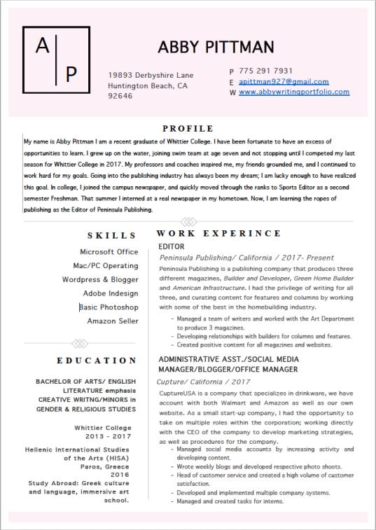 resume 2019 f